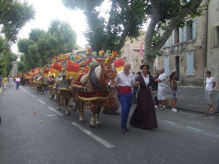 Charrette de la Saint Eloi à Saint Rémy en Provence