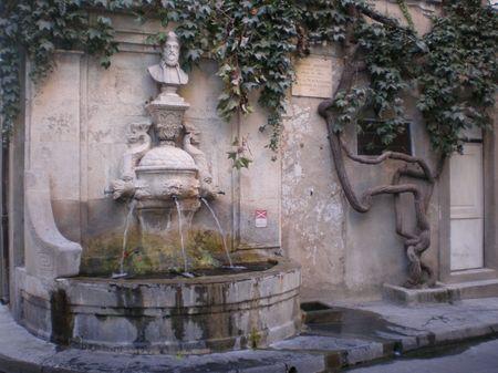 Fontaine Nostradamus St Rémy de Provence