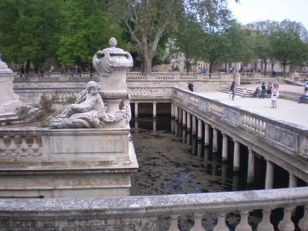 Nimes jardin fontaine